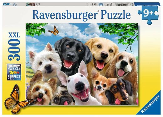 Palapeli 300 XXL Ravensburger Delighted Dogs 13228